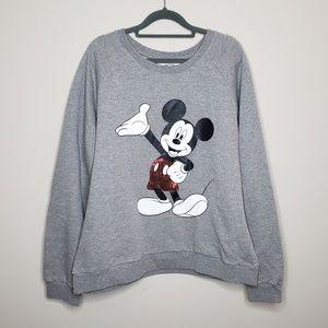 Disney Mickey Mouse Sequin Pullover Sweatshirt 2X